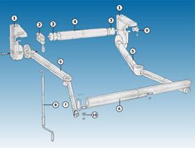 Plano brazo invisible for Repuestos de toldos